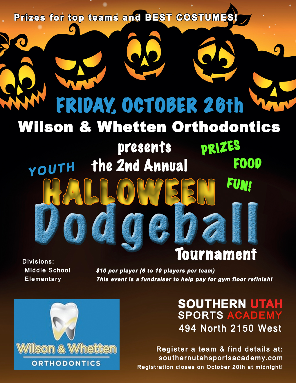 halloween dodgeball tournament